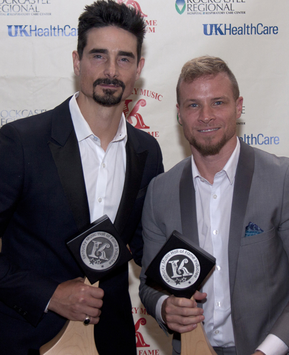 Kevin and Brian of the Backstreet Boys. Photo: J and K Kreations
