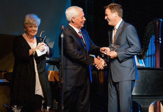 Michael W. Smith accepting Belmont University's School of Music Applause Award