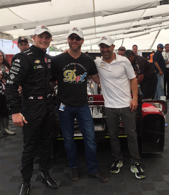 Pictured (L-R): Sage Karam, Drake White, Tony Kanaan