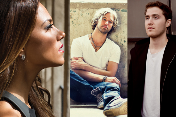 Pictured (L-R): Jana Kramer, Casey James, Mike Posner.