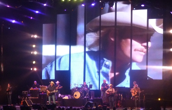 Alan Jackson onstage in Nashville Saturday night.
