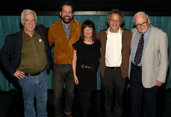 Pictured (L-R): Photographers Henry Horenstein, David McClister, Raeanne Rubenstein, Michael Wilson, and Les Leverett. Photo: Rick Diamond/Getty Images