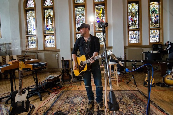 Kristian Bush at Ocean Way studio in Nashville.