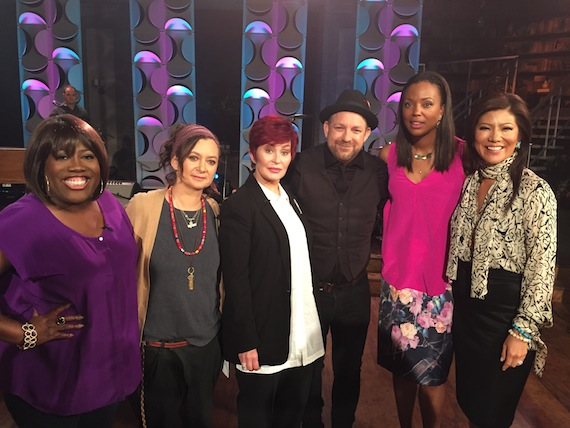 Pictured: Kristian Bush with The Talk hosts Photo Credit: Courtesy of Kristian Bush