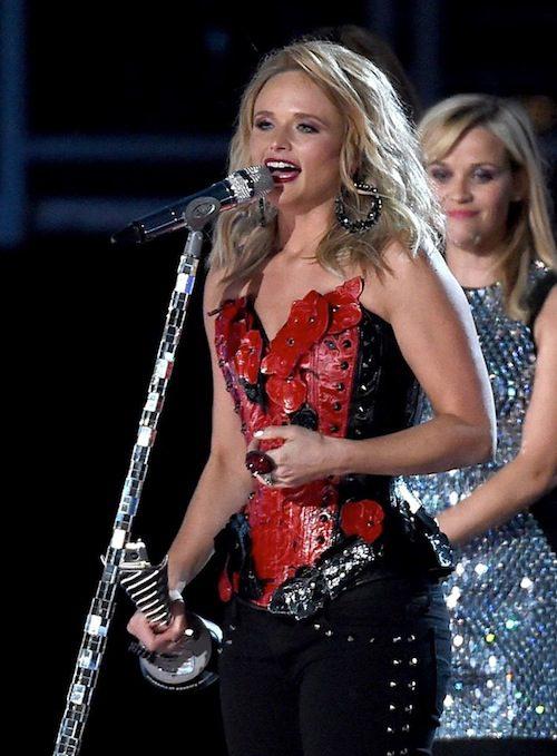 Miranda Lambert accepts ACM 50th Anniversary Milestone Award Recipient - Most Awarded Solo Female Artist.