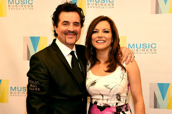 Pictured (L-R): Scott Borchetta, Martina McBride. Photo: Rick Diamond/Getty Images/Music Biz Awards.