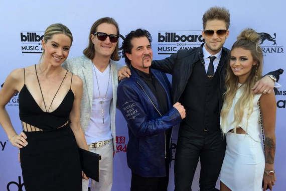Pictured (L-R): Hayley Stommel, Tyler Hubbard, Scott Borchetta, Brian Kelley, Brittney Marie Cole. Photo: Twitter.