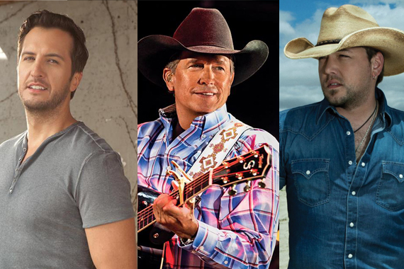 Pictured (L-R): Luke Bryan, George Strait, Jason Aldean.
