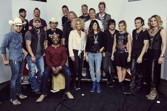 Artists gather at iHeartRadio Country Festival. Photo: Harper Smith for iHeartRadio