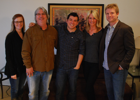 Pictured (L-R): Sarah Knabe (BMG Chrysalis), Chris Oglesby (BMG Chrysalis), Jason Saenz, Stephanie Greene (Gravity Gone Music), Kos Weaver (BMG Chrysalis).