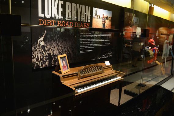 Luke Bryan's childhood piano. Photo: Jason Davis/Getty Images for CMHOF