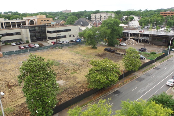 (May 27, 2015) Demolition on the 17th Ave. block of Music Row (54, 56, 58, 60, 62 and 64 Music Square West).