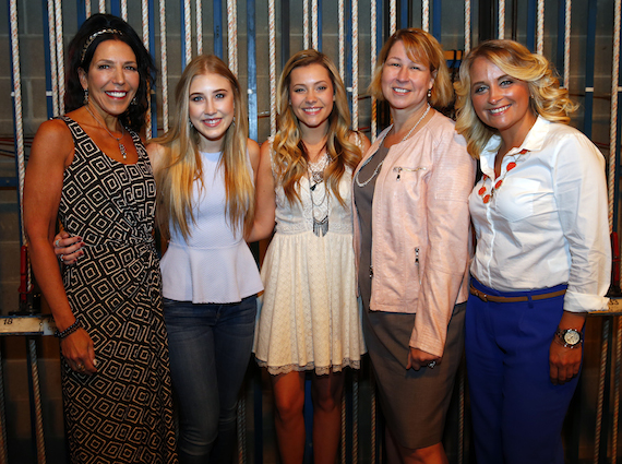 (l-r) Roberta Ciuffio-West, TPAC Executive Vice President for Education and Outreach; Maddie Marlow and Tae Dye (Maddie & Tae); Sarah Trahern, CMA Chief Executive Officer; Tiffany Kerns, CMA Community Outreach Manager.