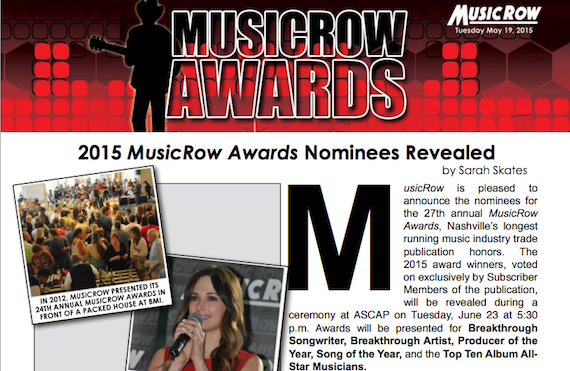 musicrow awards nominator 2015 screenshot