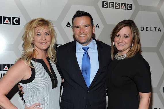 Pictured (L-R): SESAC's Ellen Truley and City National Bank's Jim Irvin & Lori Badgett. Photo: Shawn Ehlers