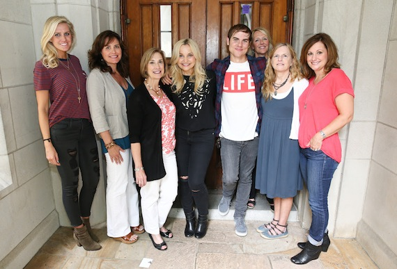 Pictured (L-R): Hannah Martin, Manager, ACM Lifting Lives; Lorie Lytle, ACM Lifting Lives Board Member and Music Camp Founder; Beth Moore, Director of Community Development at Vanderbilt University; Heather Morgan; Ross Copperman; Melita Rippy, VUMC Entertainment Industry Relations; Elizabeth Dykens, Ph.D., Annette Schaffer Eskind Professor and Director of the Vanderbilt Kennedy Center; Lori Badgett, ACM Lifting Lives President.