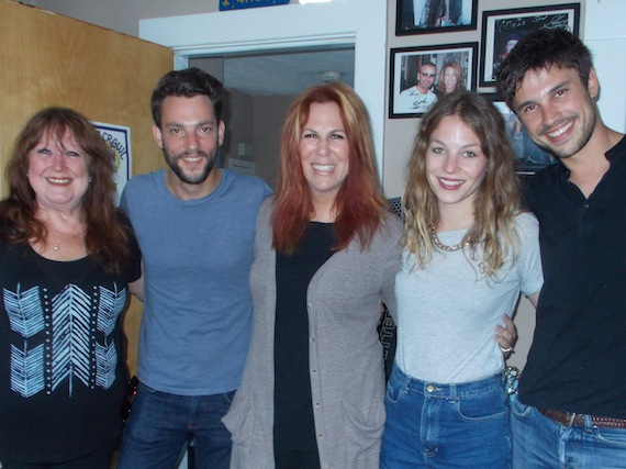 Anna Rossinelli, bandmates and Walker-Cunningham also visited songwriter Victoria Shaw
