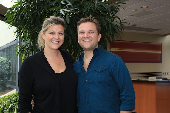 Pictured (left to right): SESAC's Shannan Hatch and Byrnes. Photo: Bev Moser