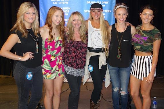 Pictured (L-R): Morgan Dawson, Kalie Shorr, Deana Carter, Julia Cole, Kristen Kelly, Maddie Larkin