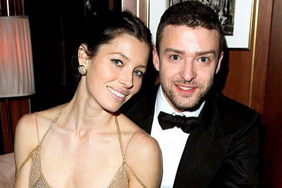 Jessica Biel with husband Justin Timberlake.