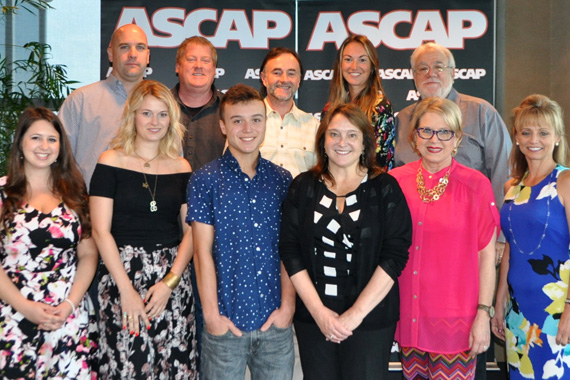 Pictured (front row L-R): ASCAP's Holly Chester and Beth Brinker, Spenser Hyun, US Register of Copyrights Maria Pallante, ASCAP's Suzanne Lee, Kele Currier, (back row L-R) ASCAP's Robert Filhart and Mike Sistad, ASCAP Board member Barry Coburn, ASCAP's Evyn Mustoe and ASCAP EVP of Licensing Vincent Candilora