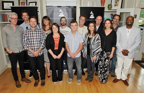 Attendees (l-r): Matt Maher, Kevin Griffin, Brandon Heath, Laura Segura Mueller, Maria Pallante, Bill Reynolds, John McBride, Martina McBride, Todd Dupler, Alicia Warwick, Jeff Balding and  Shannon Sanders.   Photo Credit: Photo Courtesy of The Recording Academy® /Wireimage.com © 2015 Photographed by: Frederick Breedon