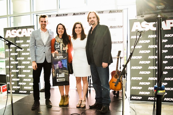 Pictured (L-R): MusicRow's Eric T. Parker, Neon Cross's Melissa Spillman, and MusicRow's Sarah Skates and Sherod Robertson. Photo: Bev Moser.