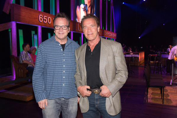 Tom Arnold and Arnold Schwarzenegger