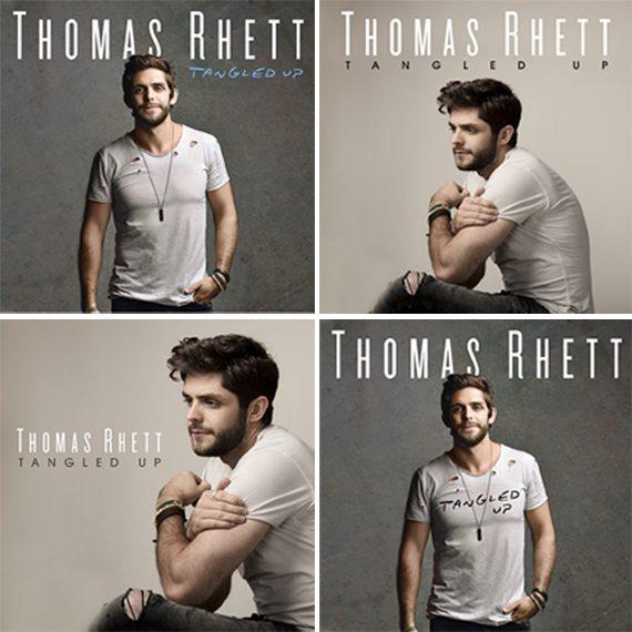 Fans can vote for the album cover for Thomas Rhett.