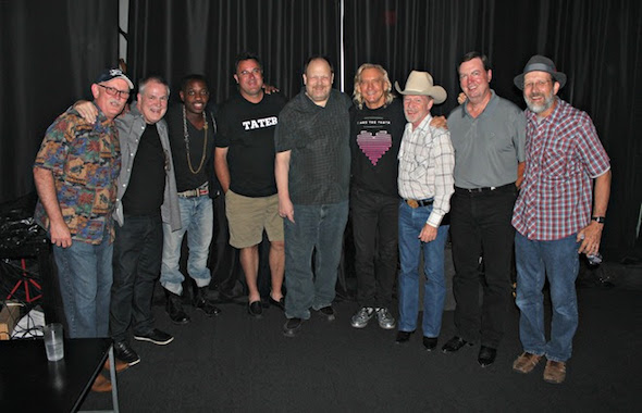 Pictured (L-R): TTJ's Joe Spivey and Paul Franklin, Steve Jordan, TTJ's Vince Gill and Andy Reiss, Joe Walsh and TTJ's Kenny Sears, Larry Franklin and Jeff Taylor