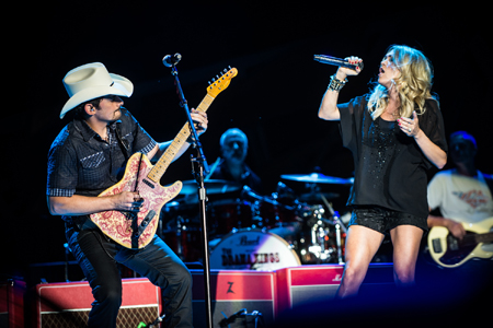 brad paisley and carrie underwood with rolling stones