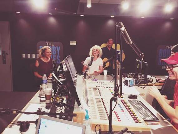 Kelsea Ballerini (L) and Cam (Middle) on The Bobby Bones Show