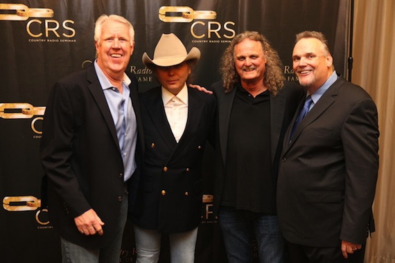 Pictured (L-R): George Briner, Dwight Yoakam, Rick Moxley and Bill Mayne