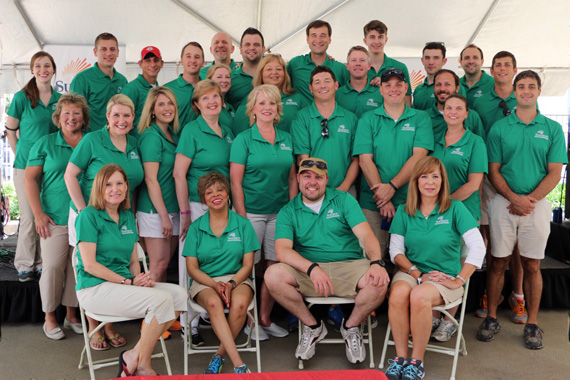 SunTrust Sports & Entertainment Staff at the company's 17th Annual Hot Dog Day.