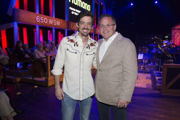 Pictured (L-R): Zane Williams and Grand Ole Opry VP/GM Pete Fisher