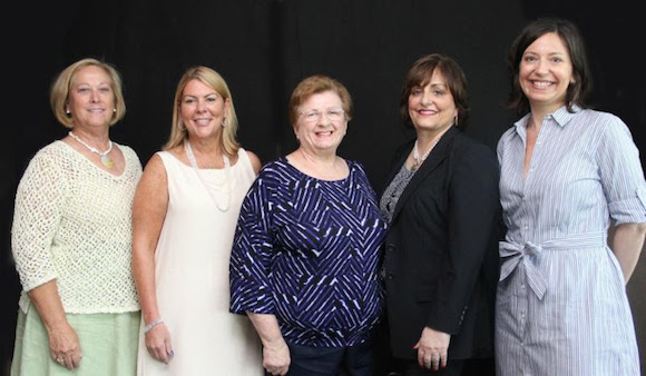 (L to R): Mary Del Scobey, Gayle Holcomb, Phyllis Deen Hill, Nancy Shapiro, Sally Williams