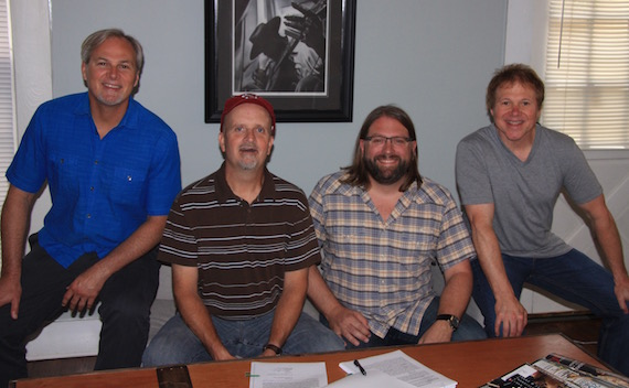 Pictured: (L-R): Clay Myers, Robert Arthur, Chip Petree (Arthur's attorney), and Tony Harrell