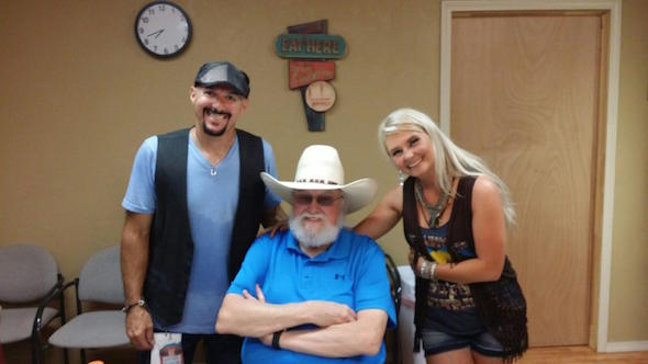 Pictured (L-R): David Montgomery, SDB, Charlie Daniels and Sarah Dunn