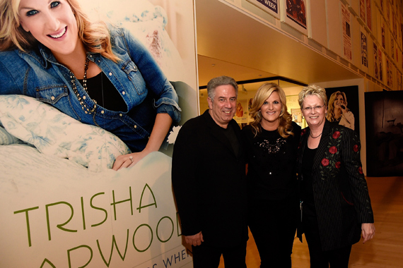 Pictured (L-R): Vector Management's Ken Levitan, Trisha Yearwood, and Carolyn Tate, Senior Vice President of Museum Services at the Country Music Hall of Fame and Museum. Photo: Rick Diamond/Getty Images for the Country Music Hall of Fame and Museum.