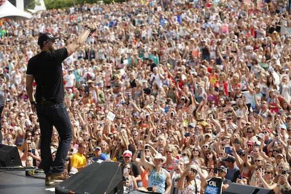 Chase Rice performs at the Chevrolet Riverfront Stage on Friday, June 12 during the 2015 CMA Music Festival in downtown Nashville.