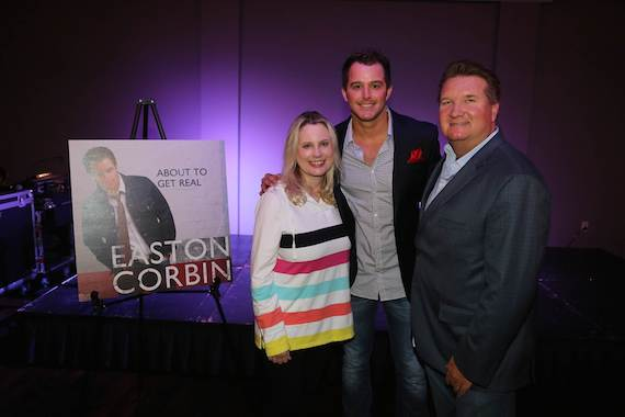 Pictured (L-R): UMG Nashville President Cindy Mabe, Mercury Nashville's Easton Corbin, Turner & Associates' Trey Turner