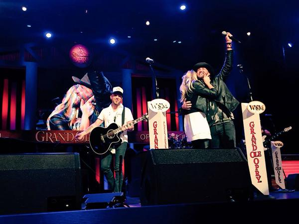 LOCASH's Preston Brust proposes onstage at the Grand Ole Opry.