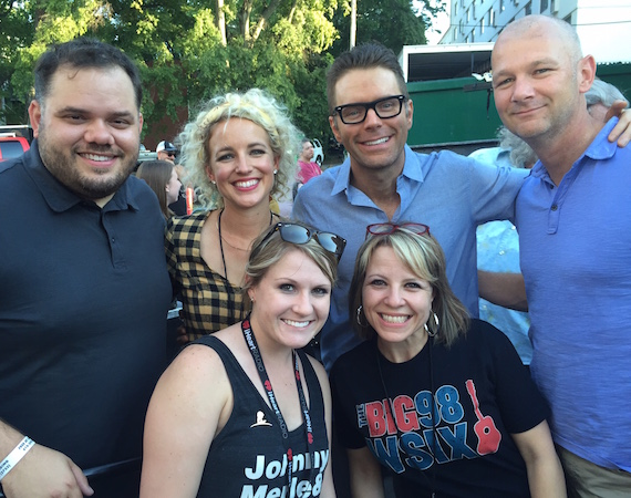 Pictured (back, L-R): Michael Bryan, iHeartMedia Nashville SVP/Programming; Cam; The Bobby Bones Show's Bobby Bones; iHeartMedia's newly named leader of its iHeartCountry team, Rod Phillips; and (front, L-R): WSIX MD/Dir. Promotions Kimsey Kerr, and WSIX's Amy Paige.