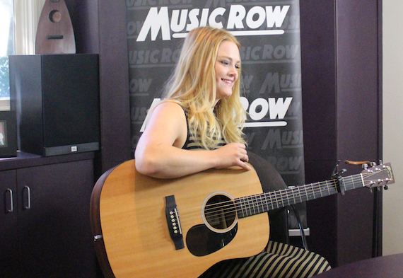 Hailey Whitters performs for MusicRow staff.