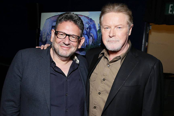 Pictured (L-R): CEO of Universal Music Group Lucian Grainge, Don Henley. Photo: Eric Charbonneau - AP/Invision