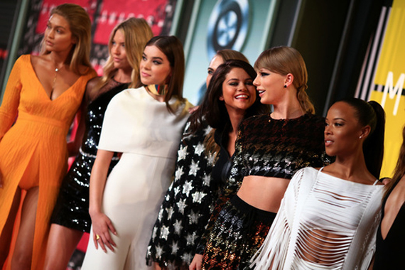 Taylor Swift and crew. Photo: MTV