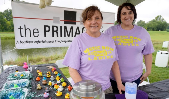 Sponsors The Primacy Firm at Tent City: (l-r) Primacy's Denise Nichols and Fifth Third Bank's Kari Barnhart - Photo: Ed Rode