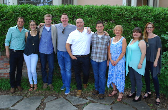 From Left To Right: Kent Marcus (Marcus & Colvin, LLP); Penny Gattis (BMI); Kos Weaver (BMG Chrysalis, Executive Vice President); Rishon Blumberg (Brick Wall Management); Marshall Altman; Daniel Lee (BMG Chrysalis, Senior Creative Director); Lainie Allbee (Martin, Allbee & Associates, LLC); Breanne Miller (Martin, Allbee & Associates, LLC); Sara Knabe (BMG Chrysalis, Senior Creative Director)