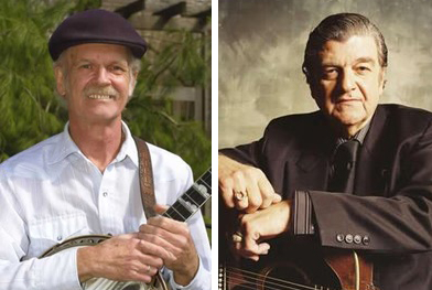Bill Keith (L) and Larry Sparks (R) will be inducted into the Bluegrass Hall of Fame.