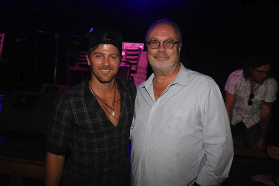 MCA Nashville's Kip Moore, UMG Nashville Chairman and CEO Mike Dungan. Photo: Alan Poizner